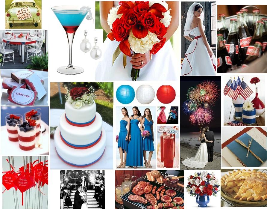 fantastic 4th of july wedding trends bella tiara blog. Black Bedroom Furniture Sets. Home Design Ideas